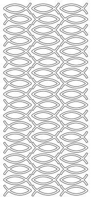 Kartenschmuck Sticker Motivsticker FISCHE in Silber