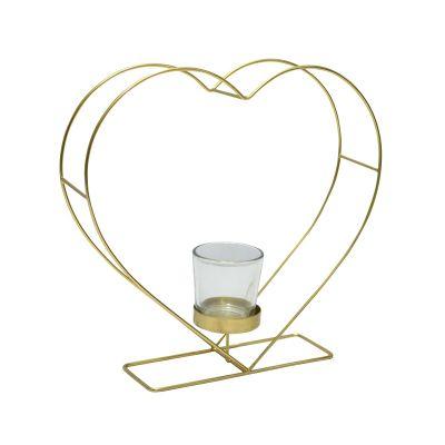Krasilnikoff - Kerzenhalter Herzform Gold