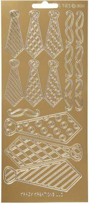 Sticker Konturensticker - Krawatten in Gold