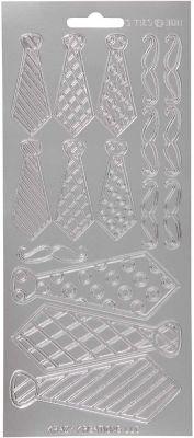 Sticker Konturensticker - Krawatten in Silber