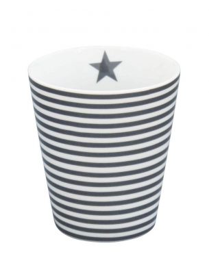 Krasilnikoff - Happy Mug schwarze Streifen