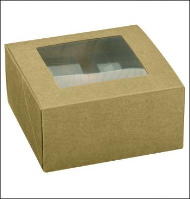 Geschenkschachtel - Pralinenbox 12x12x6 cm
