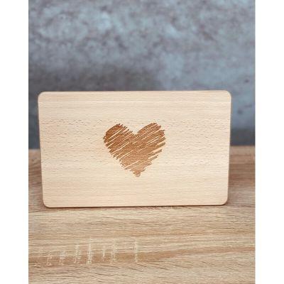 Holz-Brett - Brotzeitbrett mit gestricheltem Herz