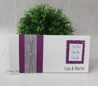 Einladungskarte Hochzeit Pusteblume