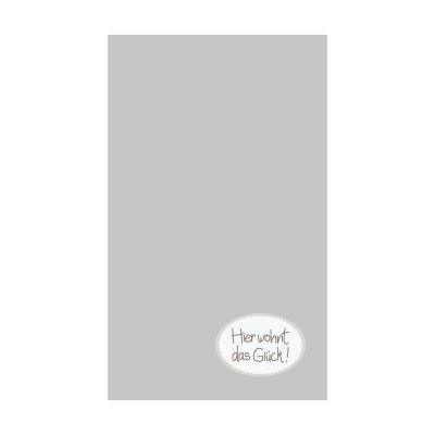 Handtuch in grau mit Motiv -Hier wohnt das Glück-