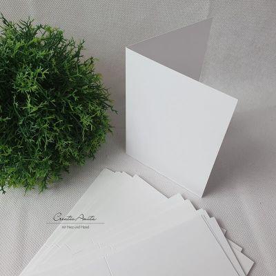 Kartenrohling - Blanko-Doppelkarte DIN-A6 WEISS
