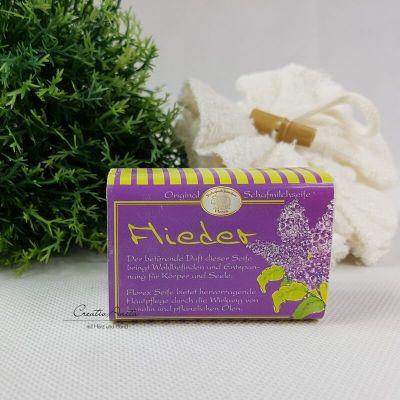 Schafmilchseife Flieder - Florex, eckig 100g