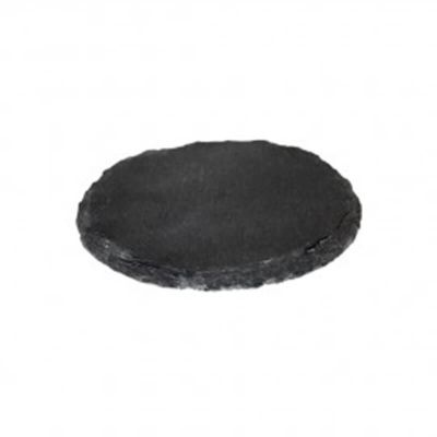 Schiefertafel - Kerzenhalter rund - schwarz