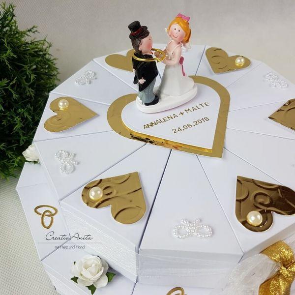 Schachteltorte Zur Goldenen Hochzeit 2 Stöckig Geldgeschenk
